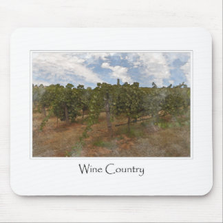 Wine Country Grape  Vineyard for Wine Theme Mouse Pad