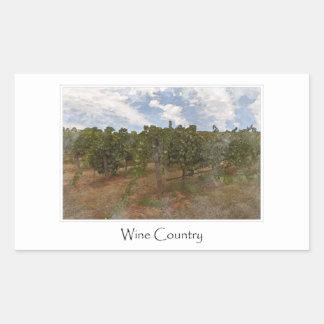 Wine Country Grape  Vineyard for Wine Theme Rectangular Sticker