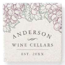 Wine Country   Personalized Home Wine Cellar Stone Coaster