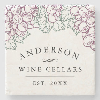 Wine Country | Personalized Home Wine Cellar Stone Coaster