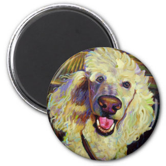 Wine Country Poodle 2 Inch Round Magnet
