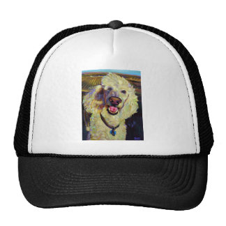 Wine Country Poodle Trucker Hat