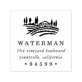 Wine Country Return Address Self-inking Stamp