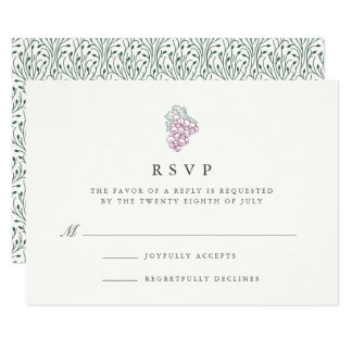 Wine Country | RSVP Card