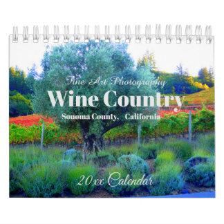Wine Country, Sonoma County, California Calendar