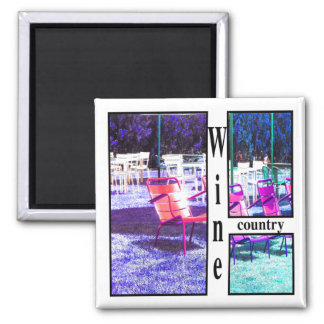 Wine Country Square Magnet