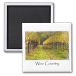 Wine Country  - Vineyard in Autumn 2 Inch Square Magnet