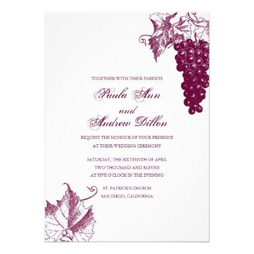 Wine Country Wedding Invitation