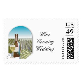 Wine Country Wedding Postage