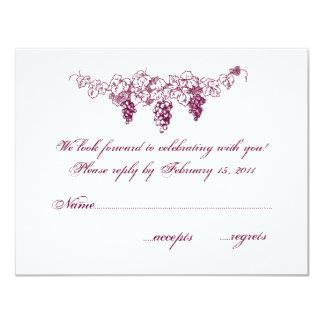 Wine Country Wedding RSVP Card