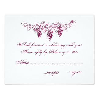Wine Country Wedding RSVP Announcements