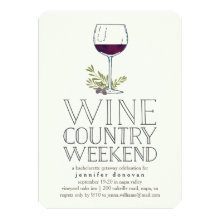 Wine Country Weekend Getaway Invitations
