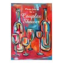 Wine Couples Wedding Shower Party Card
