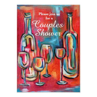 Wine Couples Wedding Shower Party Invitation