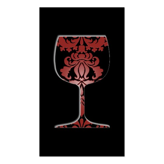 Wine Damask Business Card