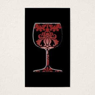 Wine Damask Business Card