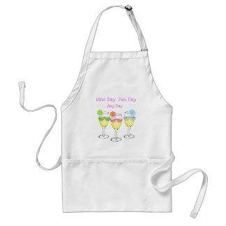 WINE DAY FUN DAY ANY DAY WINE PRINT ADULT APRON