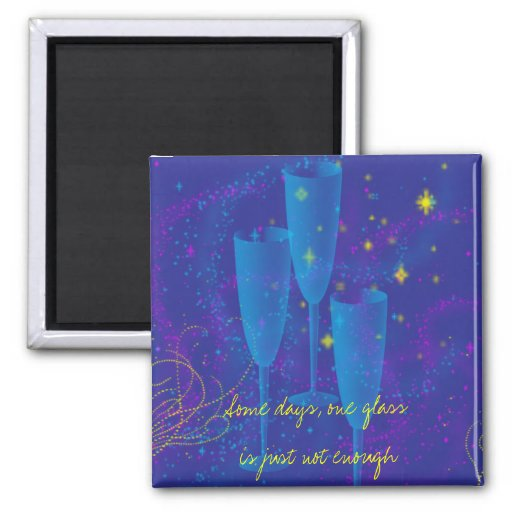 Wine Days 2 Inch Square Magnet