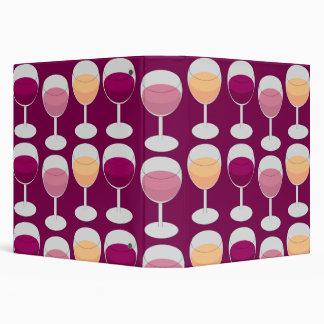 Wine Design 3 Ring Binder