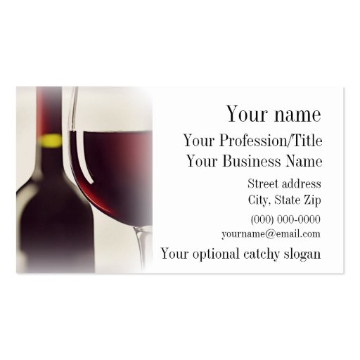 Wine design business card zazzle for Wine business cards