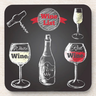 Wine Design Drink Coasters
