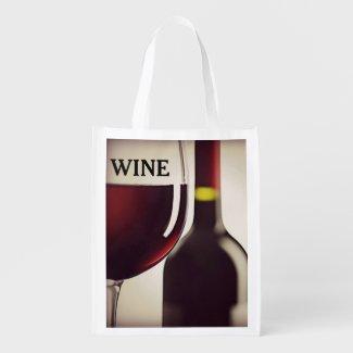 Wine Design Reusable Tote