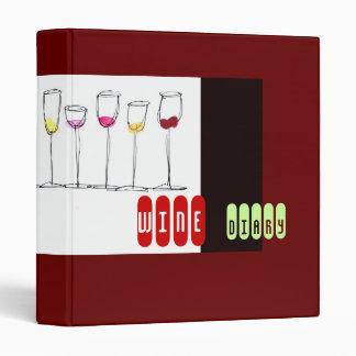 Wine Diary Journal 3 Ring Binder
