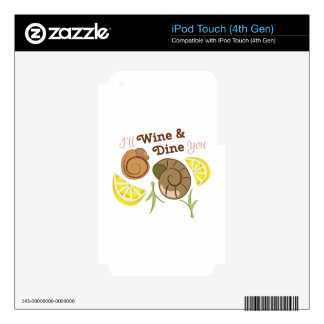 Wine & Dine You Skin For iPod Touch 4G