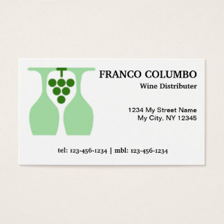 Wine Distributors and Wine Dealers Business Card