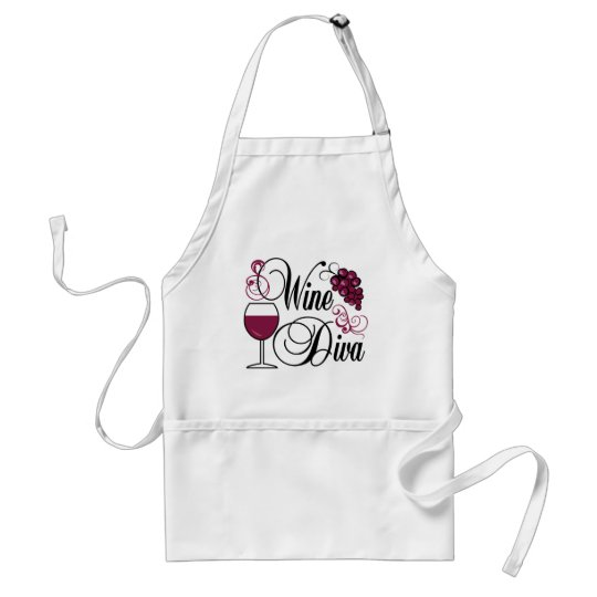 Wine Diva Adult Apron