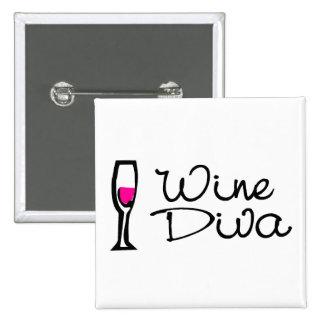 Wine Diva Pins