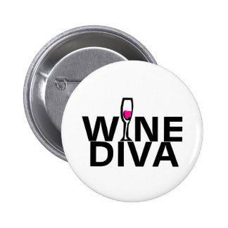 Wine Diva Pinback Buttons