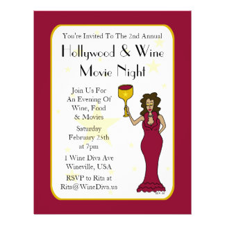 movie night flyer word template wine diva custom movie night