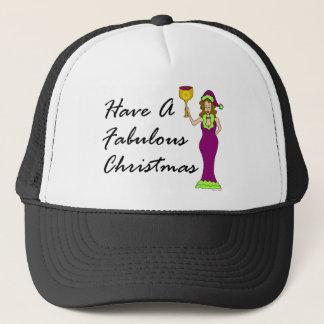 Wine Diva Fabulous Christmas Trucker Hat