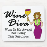 "Wine Diva ""Fabulous"" Mouse Pad"