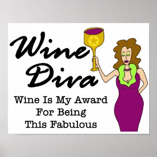 "Wine Diva ""Fabulous"" Poster"