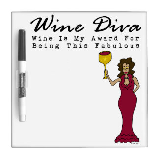 "Wine Diva ""Fabulous"" Small Dry Erase Board"