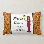 "Wine Diva ""Fabulous"" Throw Pillow"