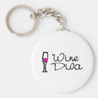 Wine Diva Keychain