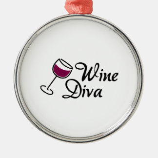 Wine Diva Metal Ornament