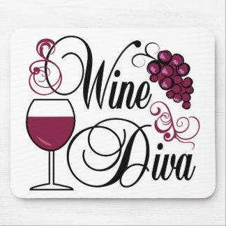 Wine Diva Mouse Pad