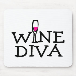 Wine Diva Mouse Pads