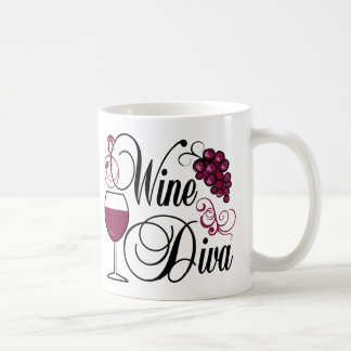 Wine Diva Coffee Mugs
