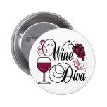 Wine Diva Pin