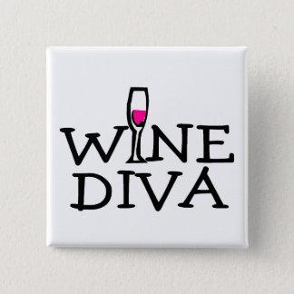Wine Diva Pinback Button