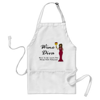 "Wine Diva ""Wine Is My Award For Being Fabulous"" Aprons"