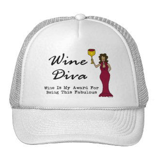 """Wine Diva """"Wine Is My Award For Being Fabulous"""" Mesh Hat"""