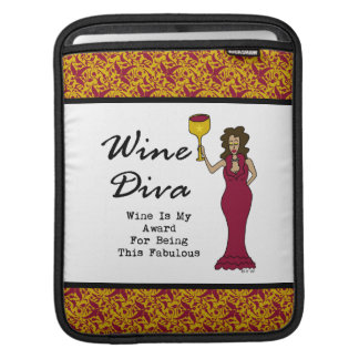 """Wine Diva """"Wine Is My Award For Being Fabulous"""" iPad Sleeves"""