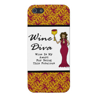 "Wine Diva ""Wine Is My Award For Being Fabulous"" iPhone SE/5/5s Cover"
