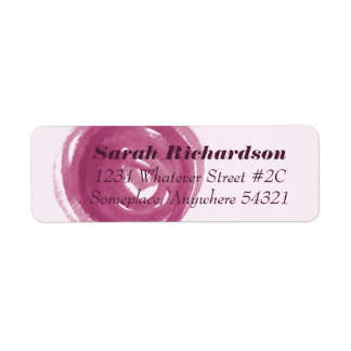 Wine Dot Circle Swirl Watercolor Brushstroke label